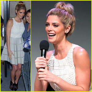 Ashley Greene Promotes 'CBGB' at the Apple Store!