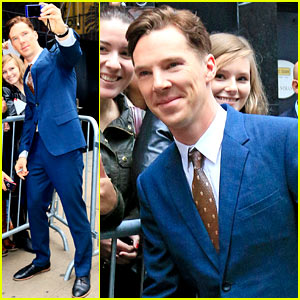Benedict Cumberbatch Discusses Julian Assange's Note on 'GMA'