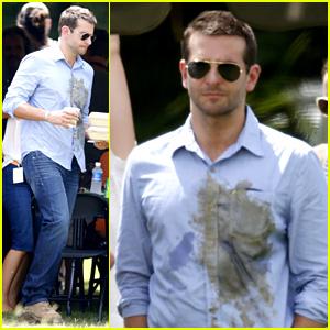 Bradley Cooper Wears Dirty Shirt, Sports Shorter Haircut