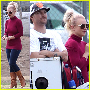 Britney Spears: Jayden's Soccer Game with Kevin Federline!