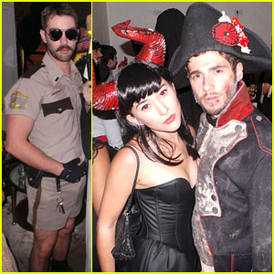 Chace Crawford & Julian Morris: Halloween Party Fun!