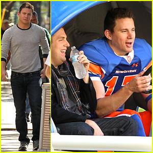 Channing Tatum Drives Football Helmet Car for '22 Jump Street'