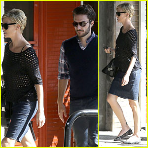 Charlize Theron: Little Dom's with Handsome Male Pal!