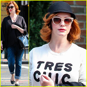 Christina Hendricks is 'Tres Chic' in the Big Apple!