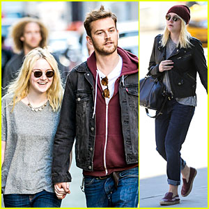 Dakota Fanning & Jamie Strachan Hold Hands for Shopping!