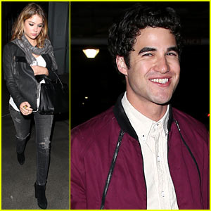 Darren Criss & Ashley Benson Watch Kanye West's Concert!