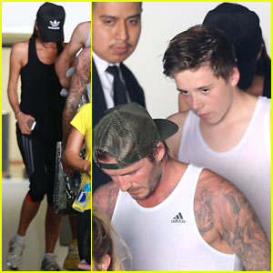 David Beckham: Fender-Bender After WeHo Workout
