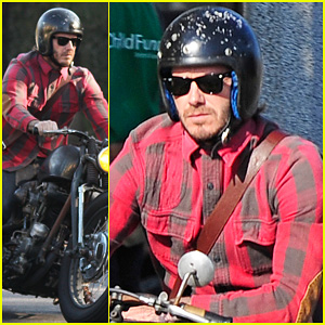 David Beckham: Motorcycle Man in WeHo!