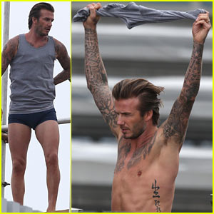 David Beckham Shows Underwear, Goes Shirtless for 'H&M'!
