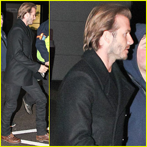 David Beckham Steps Out in Manchester After Fender-Bender