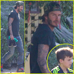 David Beckham: Sunday Soccer Practice with Cruz!