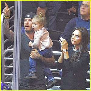 David & Victoria Beckham: Kings Hockey Game with Kids!