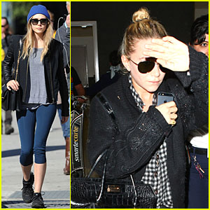 Elizabeth Olsen Stays Fit, Mary-Kate Lands at LAX Airport