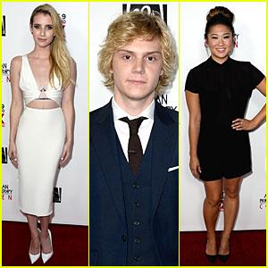 Emma Roberts & Evan Peters: 'American Horror Story: Coven' Premiere!