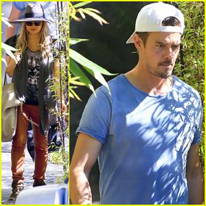 Fergie & Josh Duhamel Visit New Home in Brentwood!