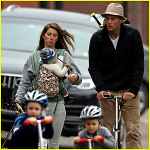 Gisele Bundchen & Tom Brady: Park Playtime with the Kids!