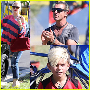 Gwen Stefani & Gavin Rossdale Party After Kingston's Soccer Game