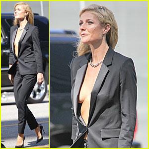 Gwyneth Paltrow Goes Braless for Hugo Boss!