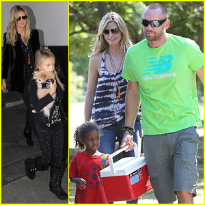 Heidi Klum & Martin Kirsten: Kids Soccer Game Duo Before LAX