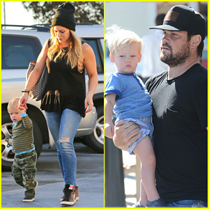 Hilary Duff: Dinner with Luca After B-Day Celebrations!