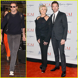 Hugh Jackman: Washington Exit After Angels In Adoptions Awards!