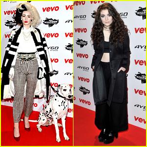 Iggy Azalea & Lorde: Vevo's Halloween Showcase in London!