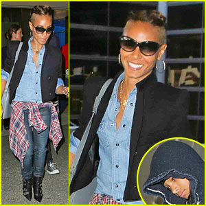 Jada Pinkett Smith Debuts New Buzz Hairdo!