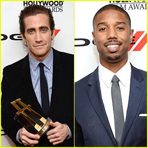 Jake Gyllenhaal & Michael B. Jordan: Hollywood Film Awards 2013!