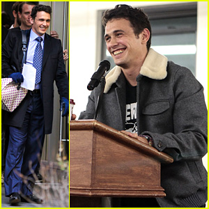 James Franco: Book Signing After 'The Interview' NYC Filming!