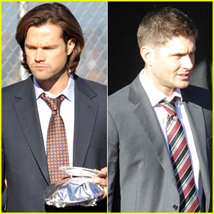 Jared Padalecki & Jensen Ackles Suit Up for 'Supernatural'!