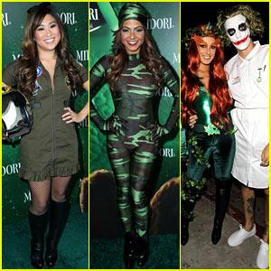 Jenna Ushkowitz & Christina Milian: Midori Green Halloween!