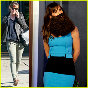Jennifer Garner Wears Bushy Beard for 'Jimmy Kimmel' Visit!