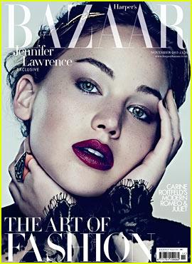 Jennifer Lawrence Covers 'Harper's Bazaar UK' November 2013