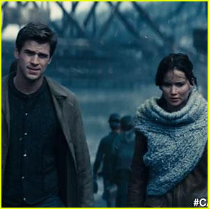 Jennifer Lawrence & Liam Hemsworth: 'Catching Fire' TV Spot!
