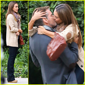 Jessica Alba Passionately Kisses Pierce Brosnan for Movie!