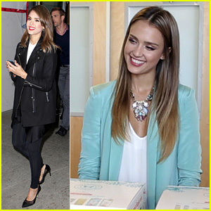 Miraculous Jessica Alba Promotes Honest Company On Acting Disruptive Hairstyles For Men Maxibearus