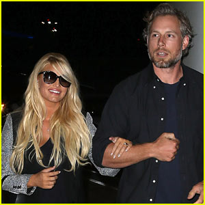 Jessica Simpson Links Arms with Eric Johnson at LAX