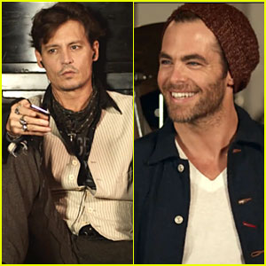 Johnny Depp & Chris Pine: Paul McCartney's 'Queenie Eye' Music Video!