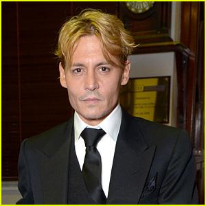 Johnny Depp: Bleached Blonde Hair at BFI Film Fest Awards!