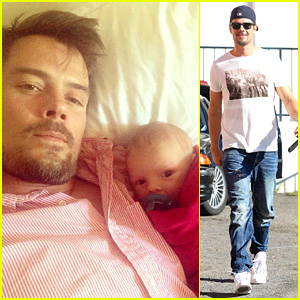 Josh Duhamel Cuddles Up to Son Axl to Watch Sunday Football!