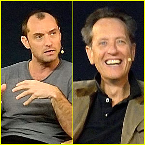 Jude Law & Richard E. Grant: 'Dom Hemingway' Promo at Apple!