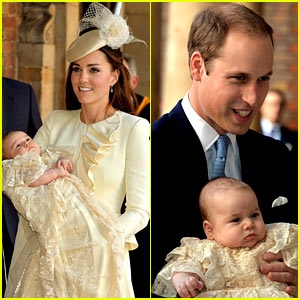 Kate Middleton & Prince William: Prince George's Christening - See All the Pics!