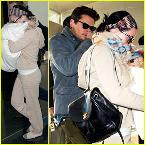 Katy Perry & John Mayer Catch Flight Out of New York City
