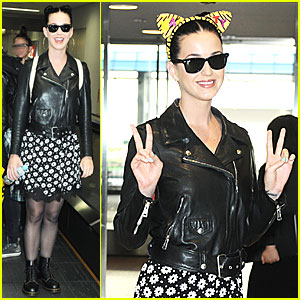 Katy Perry Sports Cat Ears for National Cat Day!