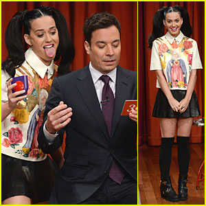 Katy Perry Sticks Out Tongue for Taboo on 'Fallon'!