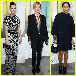 Katy Perry & Vanessa Paradis: Chanel Fashion Show