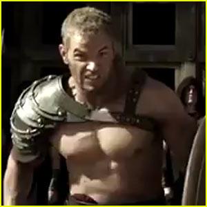 Kellan Lutz: Shirtless for 'Hercules' Trailer - Watch Now!