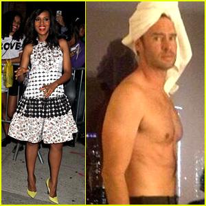 Kerry Washington: Scott Foley Shirtless for 'Scandal' Party!
