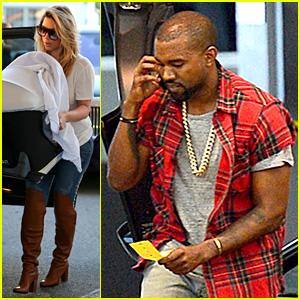 Kim Kardashian & Kanye West: Separate Family Meals!
