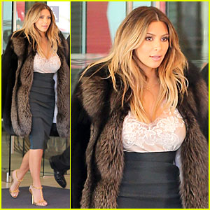 Kim Kardashian Steps Out After Engagement to Kanye West!